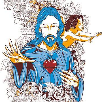 JESUS CHRIST  TSHIRTS by silveirinha46