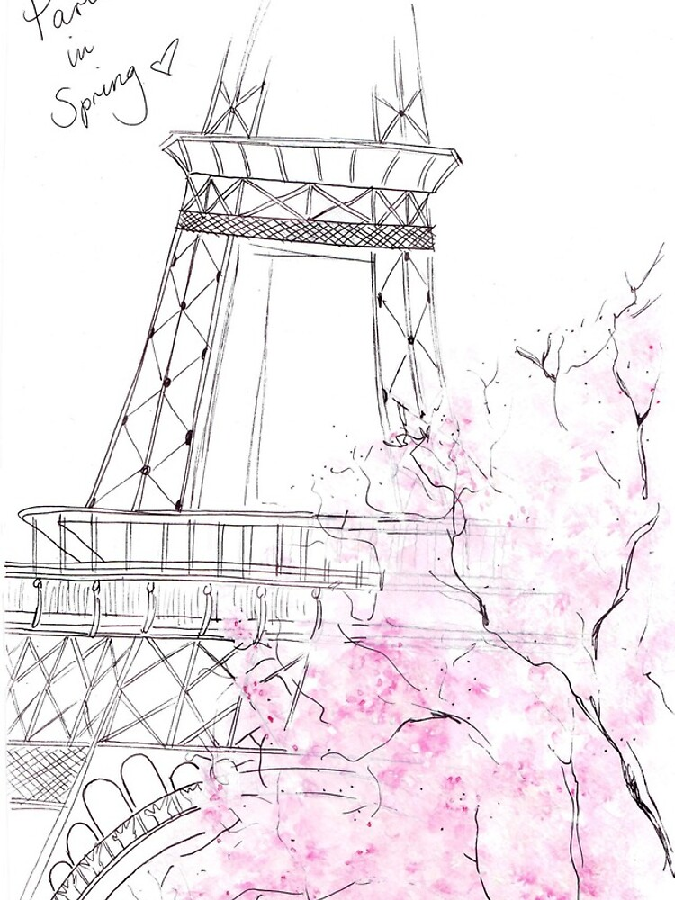 Watercolour & Ink Fashion Illustration Titled Paris in Spring by FallintoLondon