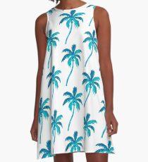 Coconut Palm Tree A-Line Dress