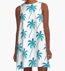 Coconut Palm Tree A-Line Dress