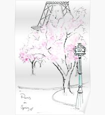 Paris in voller Blüte Poster