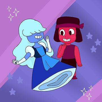 Ruby and Sapphire Steven Universe Shirt by Navypaw