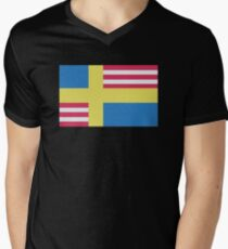 Sverige / USA Flag Men's V-Neck T-Shirt