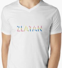 Sverige / USA / Zlatan (retro) Men's V-Neck T-Shirt