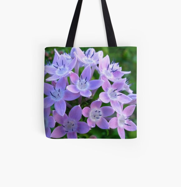 Purple Pentas  All Over Print Tote Bag