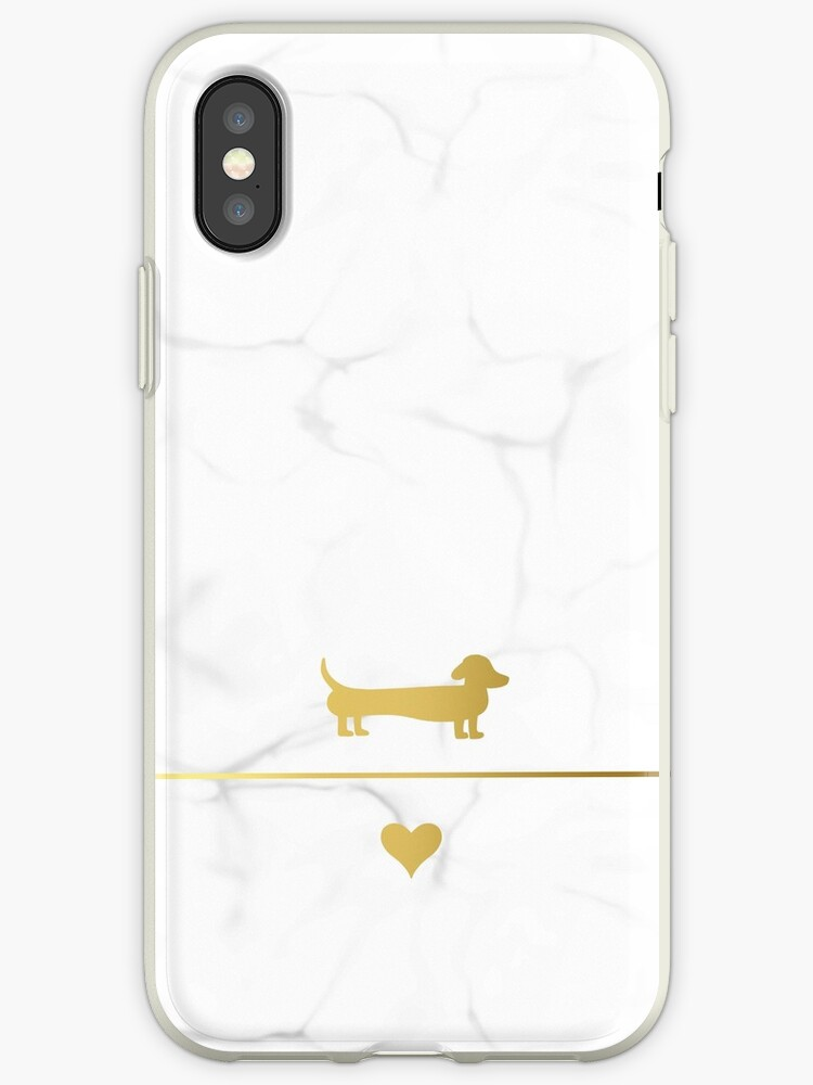 Gold and marble dachshund love by LaurasLovelies