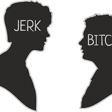 Sam & Dean, Jerk Bitch sticker by DaniiAnn