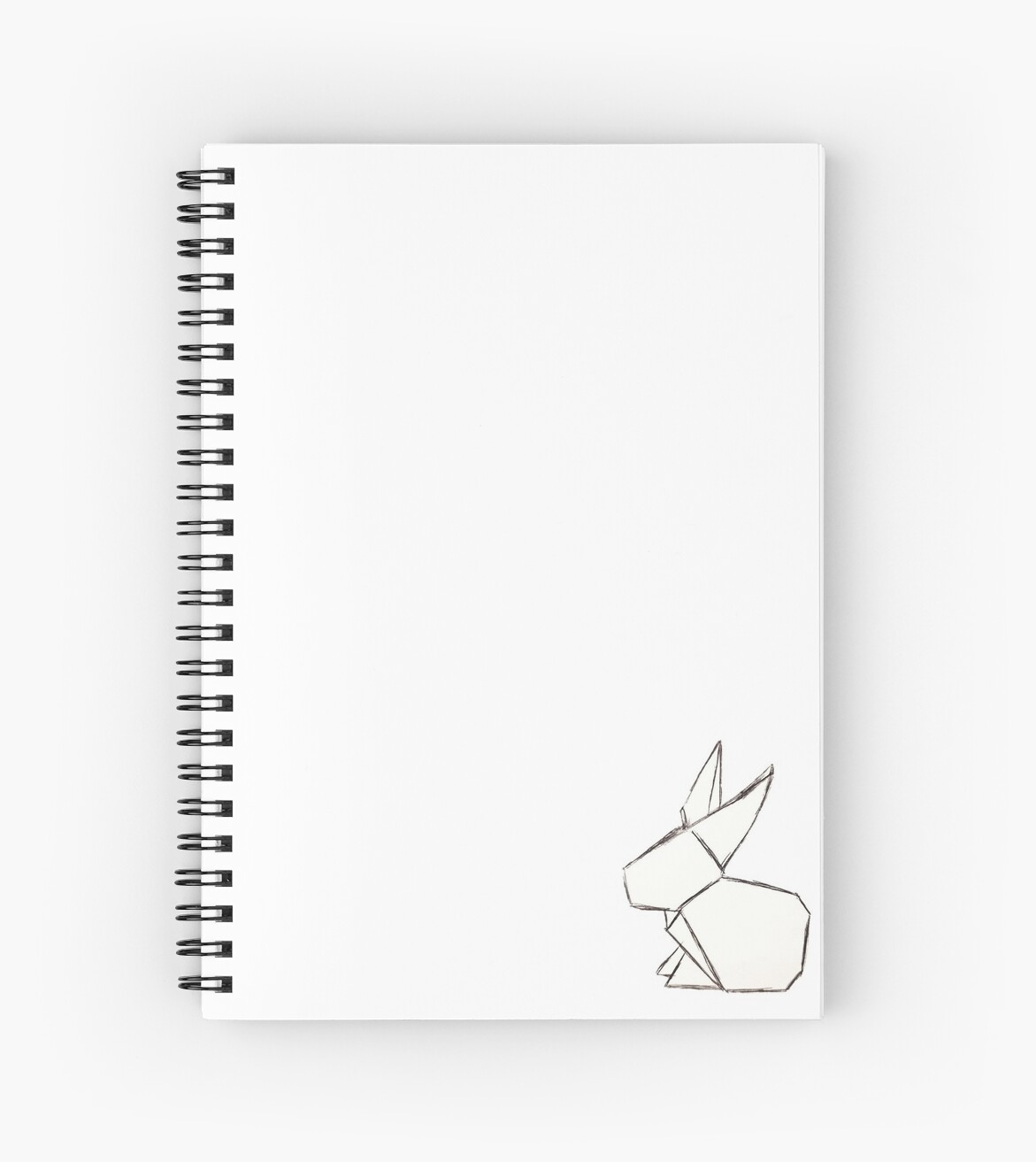 Simple Origami Rabbit Spiral Notebooks By Auliakelinci Redbubble