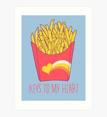 Keys To My Heart Art Print