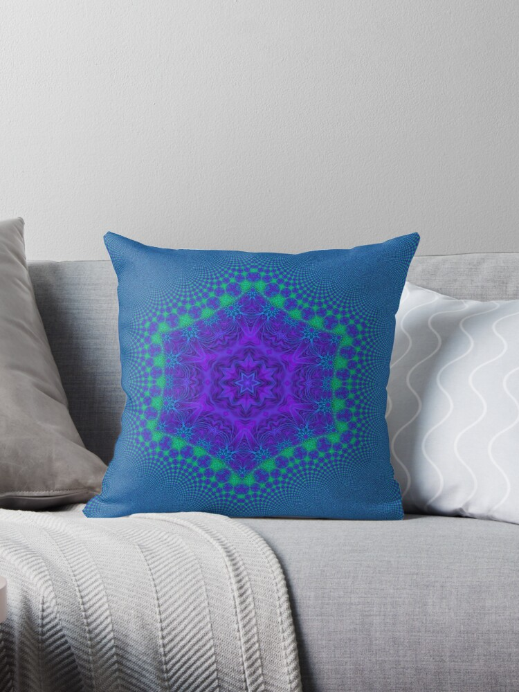 Flower of Life in blue  by RoyalSunGate