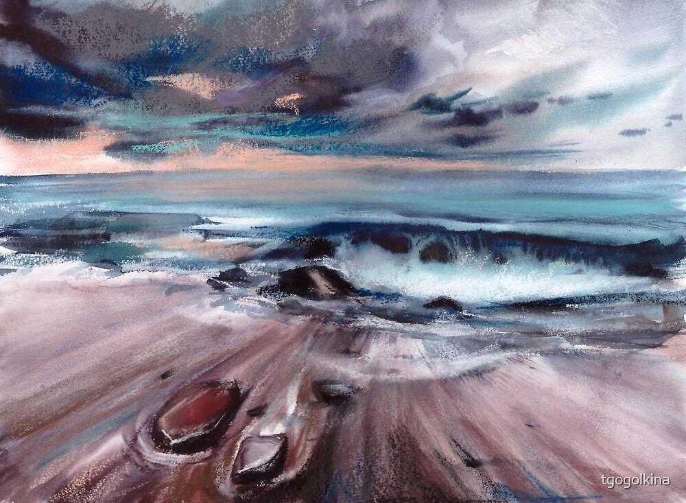 Watercolor ocean by tgogolkina