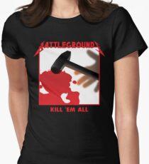 PUBG Kill 'em all Women's Fitted T-Shirt