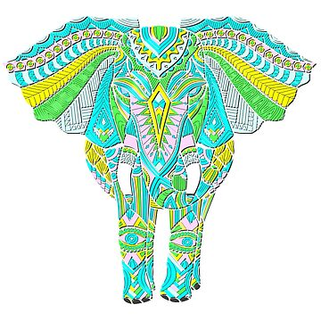 Pretty Elephant Art by Alondra