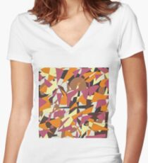Paper Cutout Women's Fitted V-Neck T-Shirt
