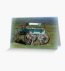 Waiting for horses Greeting Card