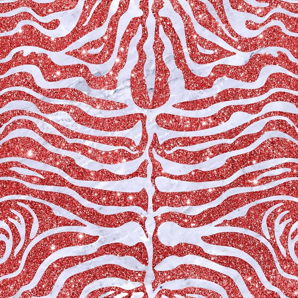SKIN2 WHITE MARBLE & RED GLITTER by johnhunternance