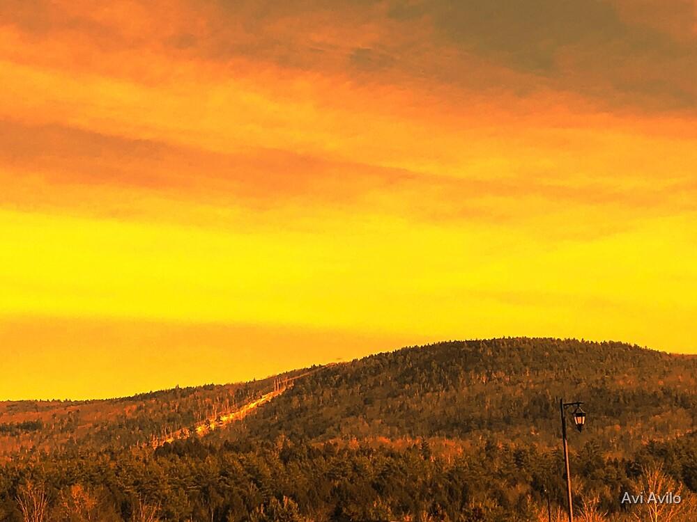 Beautiful Mountain Sunset by Avi Avilo