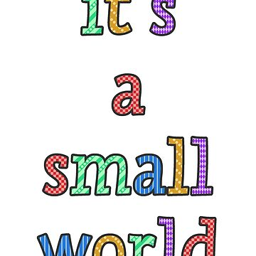 """""""it's a small world"""" fun font by slimey01"""