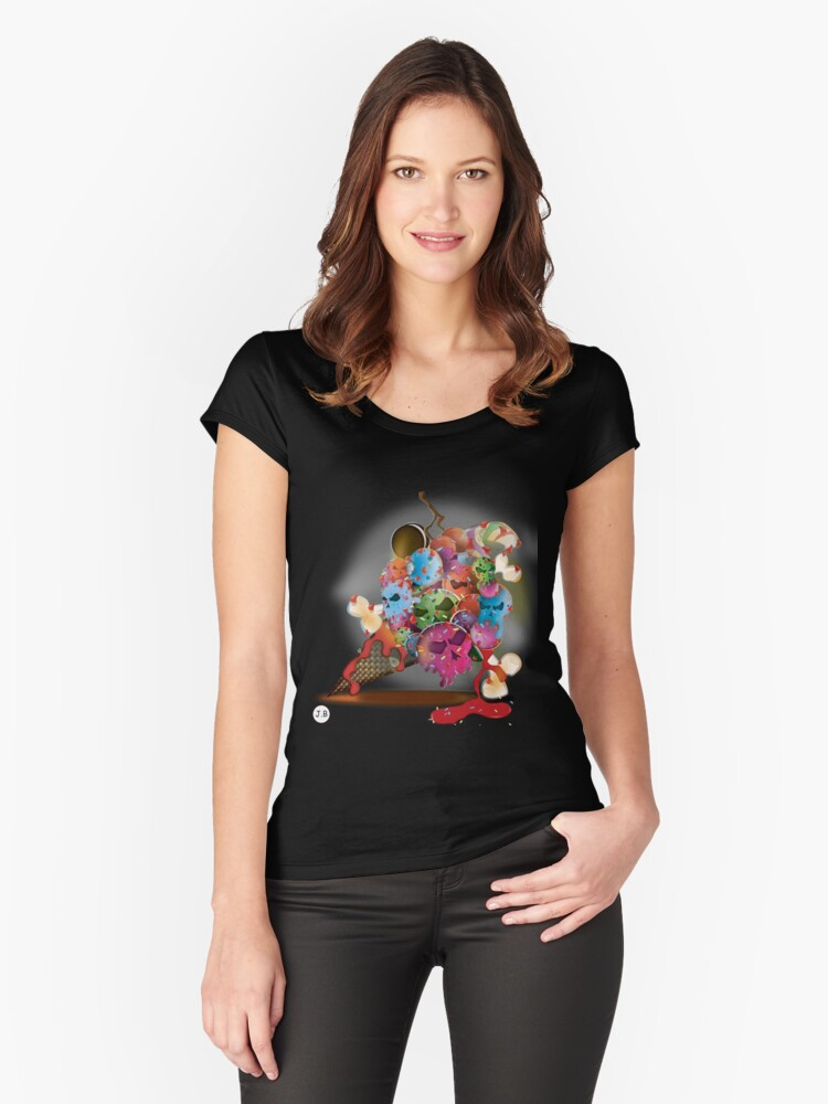 I, Scream Women's Fitted Scoop T-Shirt Front