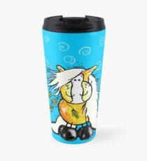 Cute Haflinger Horse Cartoon Travel Mug