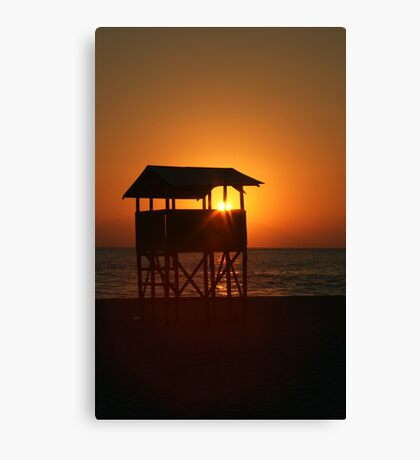 Evening on Playa Zicatela Canvas Print