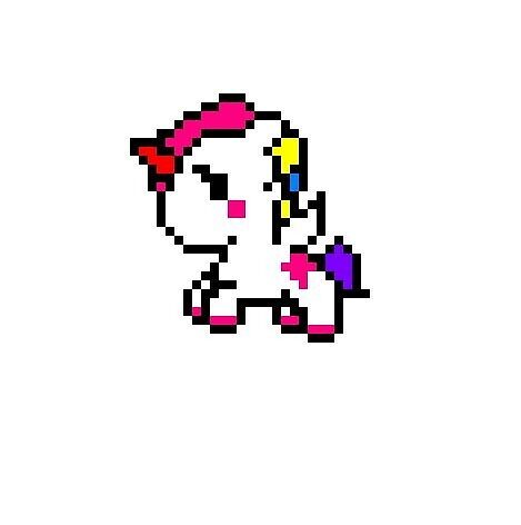 Pixel Unicorn By Eeeve Redbubble