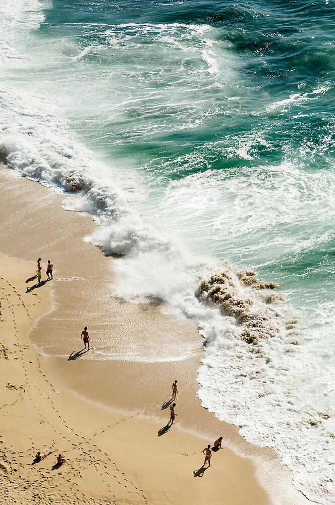 Beach birds eye view by mrfotos