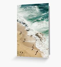 Beach birds eye view Greeting Card