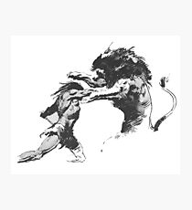 Hercules fight against the lion. Photographic Print