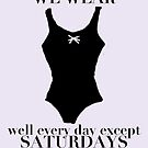 On Wednesdays We Wear Black by balleteducation