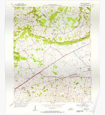 USGS TOPO Map Kentucky KY Bristow 708232 1954 24000 Poster