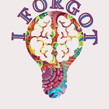 I Forgot Brain Lightbulb by Shasta9876