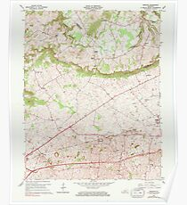 USGS TOPO Map Kentucky KY Bristow 803363 1965 24000 Poster