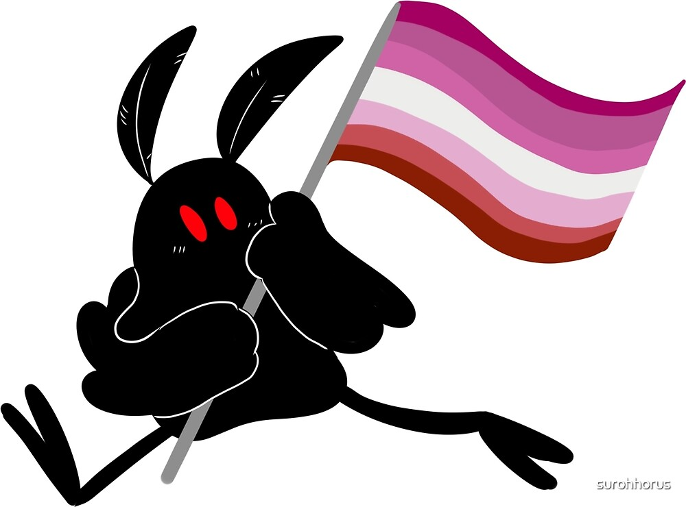 Lesbian Mothman Flag by surohhorus