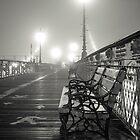 «Bancos de Brooklyn en la niebla» de Randy  LeMoine