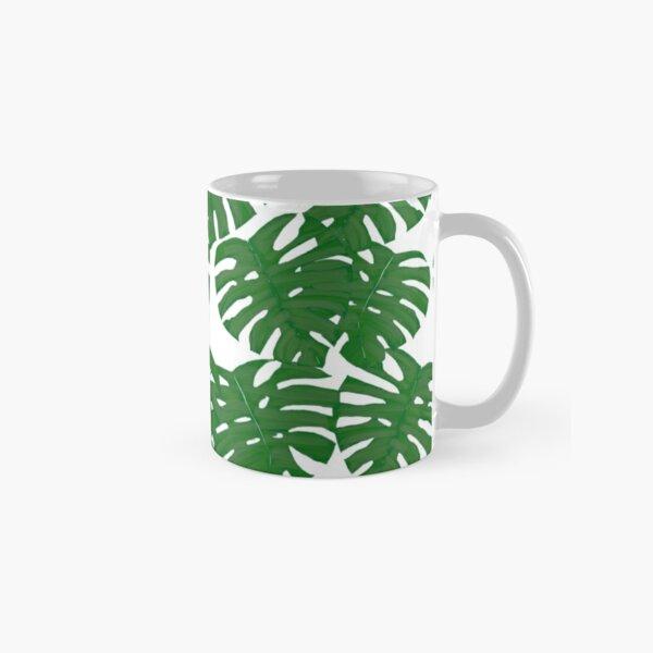 Monstera Plant Pattern Print Classic Mug
