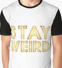 Stay Weird Light Typography 2 Graphic T-Shirt