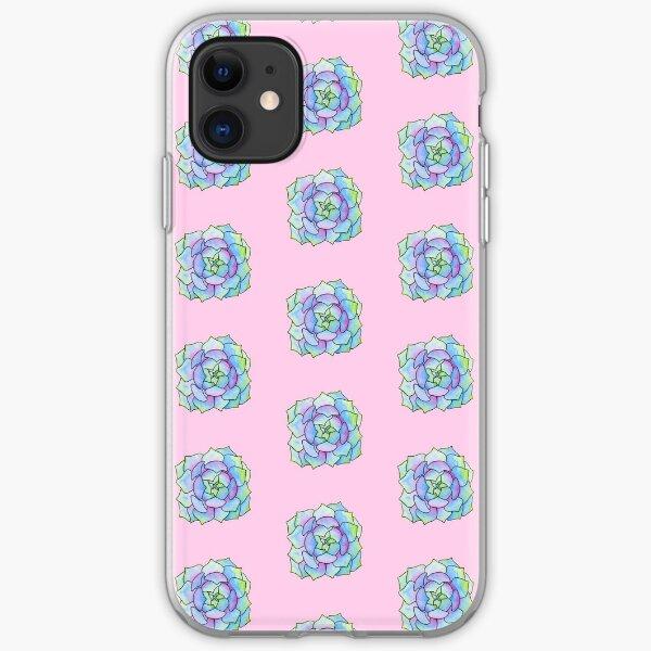 round succulent iPhone Soft Case