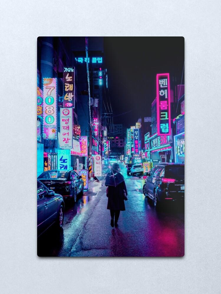 Alternate view of Incheon Rain 2 Metal Print