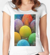 Easter Egg Study 4  Women's Fitted Scoop T-Shirt