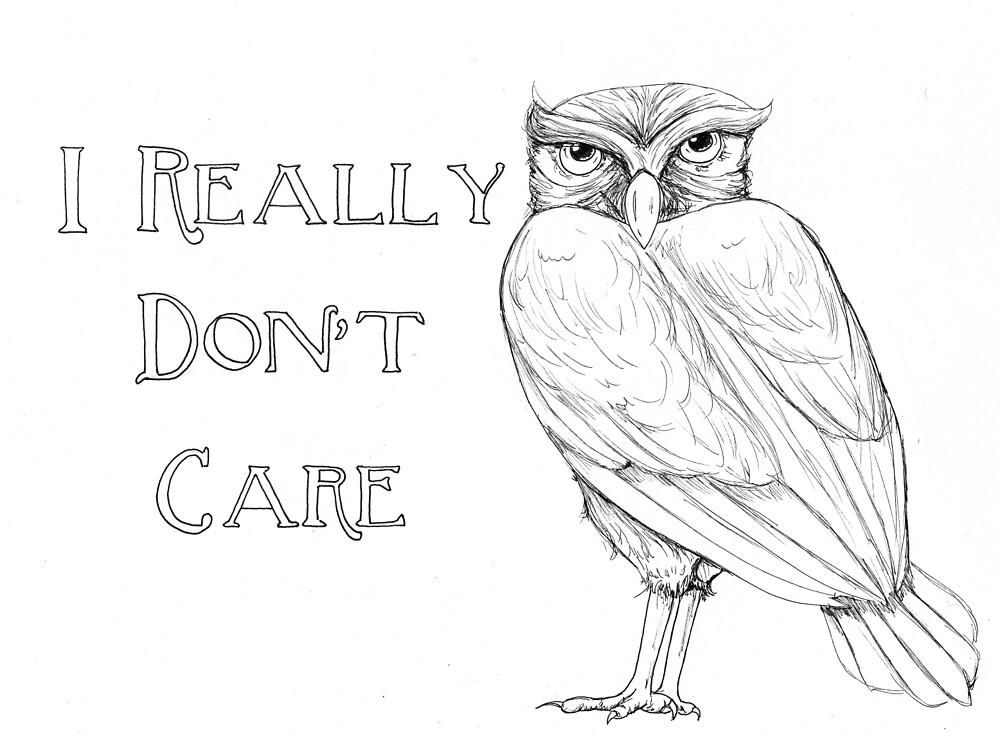 Artfully Obscene - I Don't Give a Hoot by TalynDraconmore