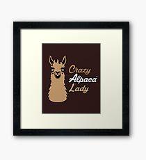 Crazy Rainbow Alpaca Design Framed Print