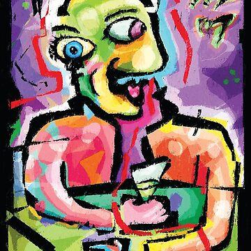 The Absinthe Drinker. A Portrait of Pablo Picasso by Brett Sixtysix by brett66