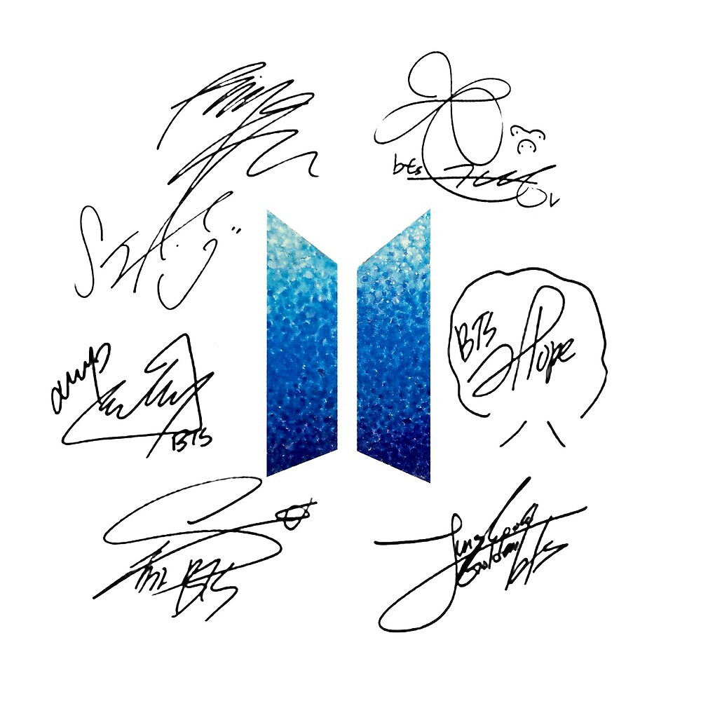 BTS Logo and Signatures by AdelineFaerie