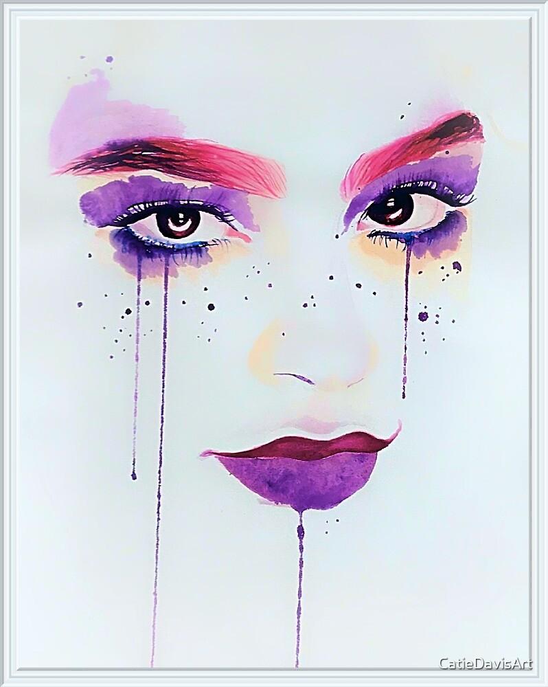 Watercolour Face by CatieDavisArt