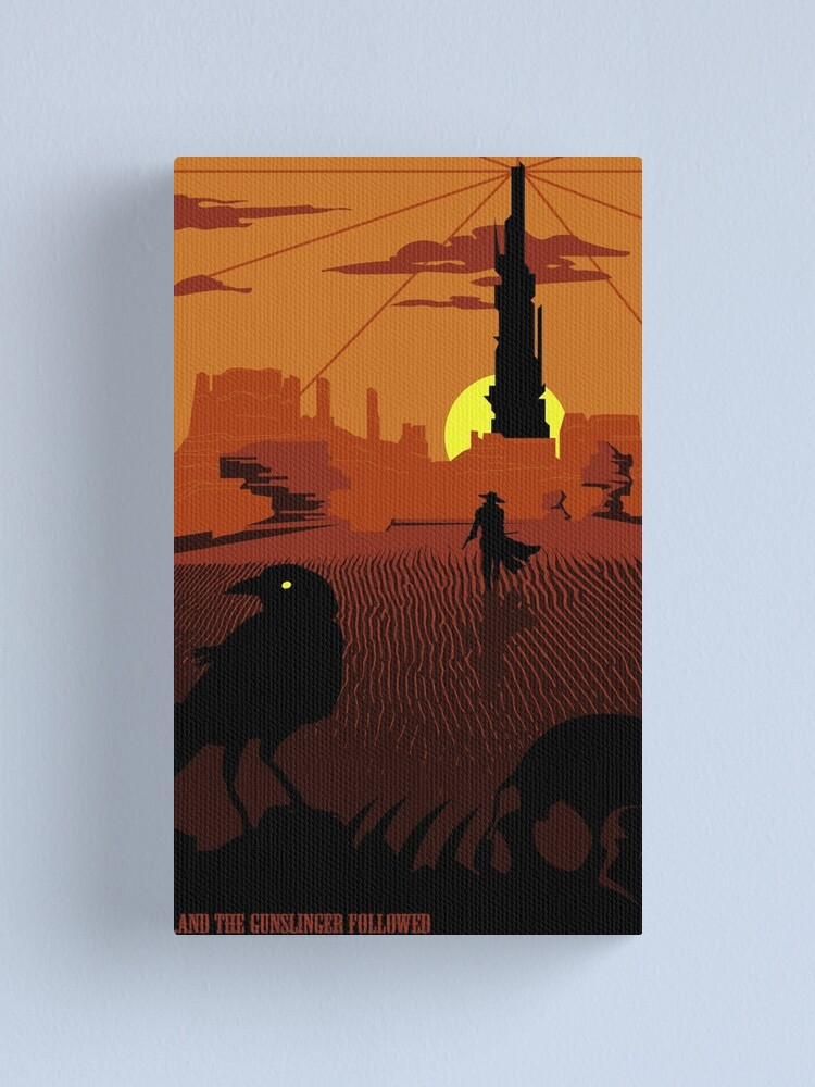 Alternate view of ...and the Gunslinger followed Canvas Print