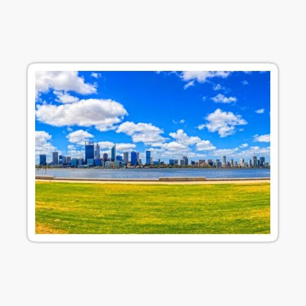 Lazy Afternoon, Perth City Skyline, Perth Sticker