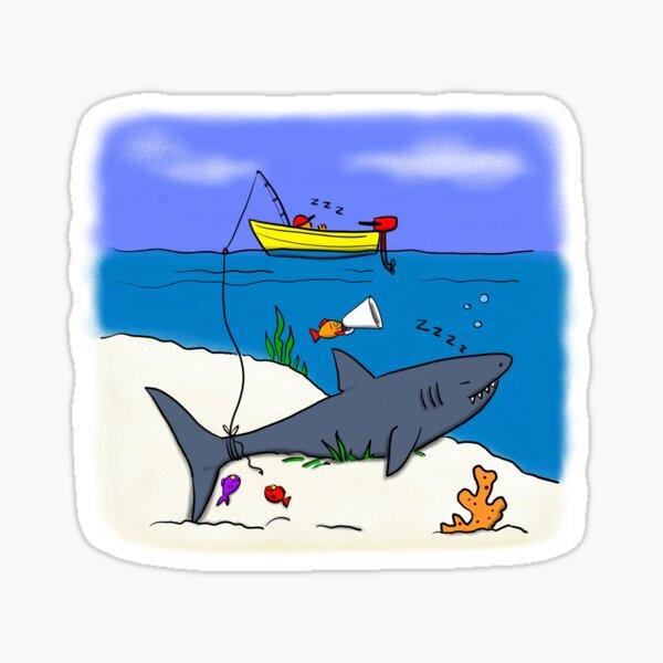 Funny fishing cartoon Sticker