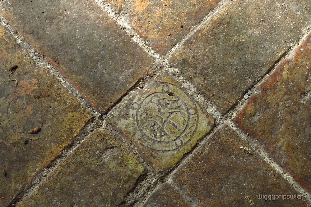 14th Century Floor Tiles, Icklingham by wiggyofipswich