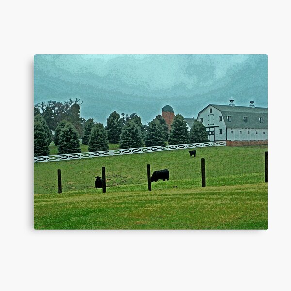 Country Painted Scene Canvas Print